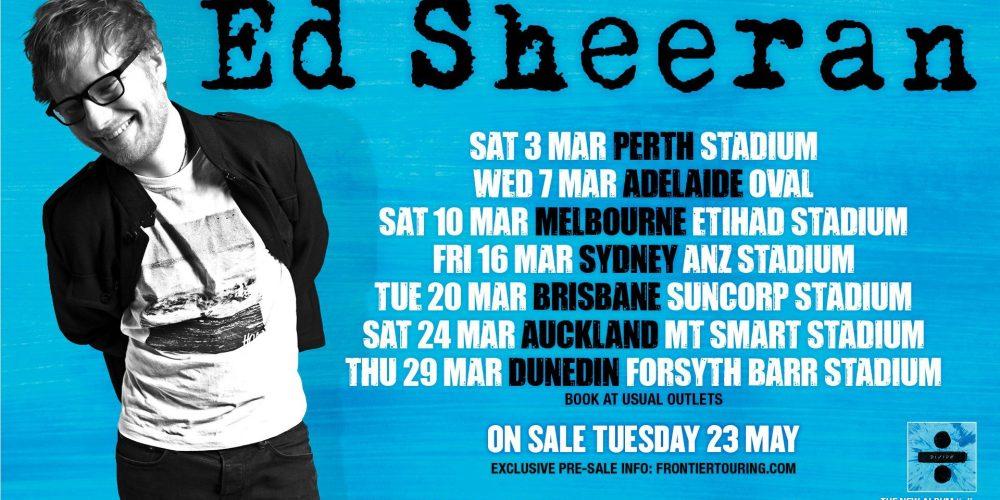 Ed Sheeran Australian Tour Dates